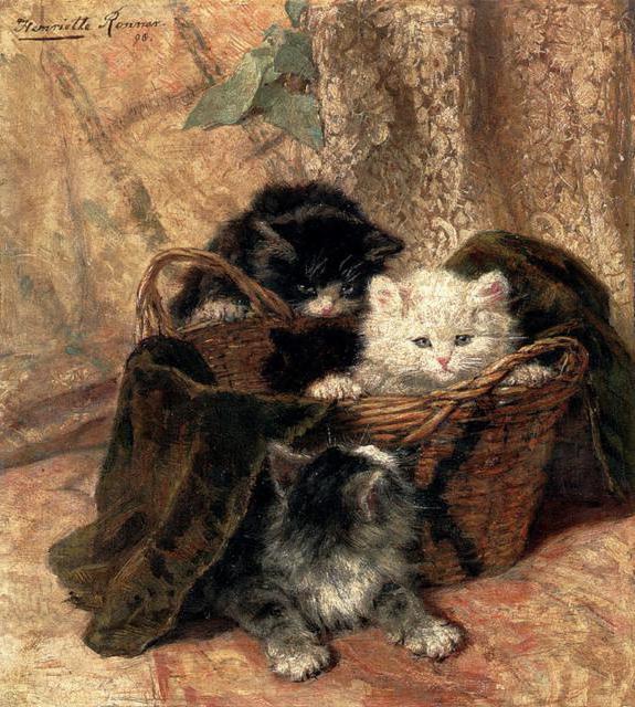 Котята в корзине, оригинал