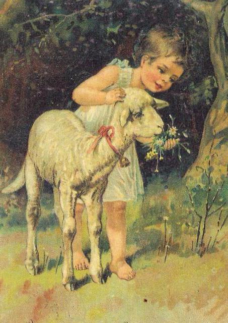 Девочка с козликом