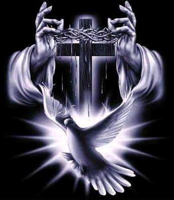 Крест, черно-белое, белое на