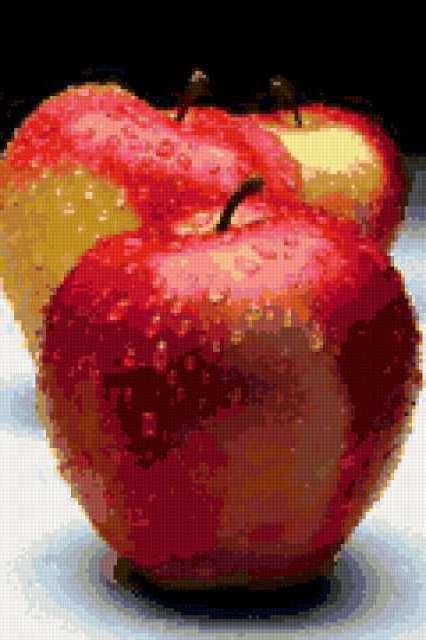 Яблоко с каплями, предпросмотр