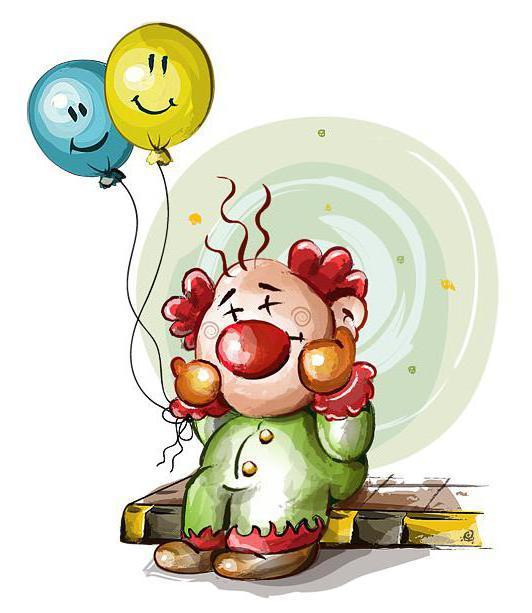 Клоун с шариками в детскую,
