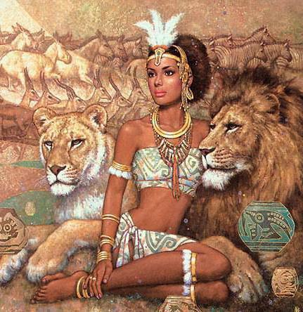 Девушка и львы, оригинал
