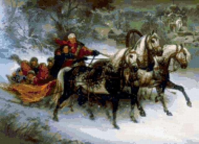 Тройка резвых коней, животные,