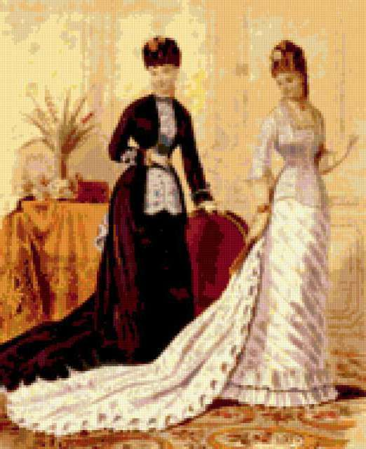 Дамы 18 века, предпросмотр
