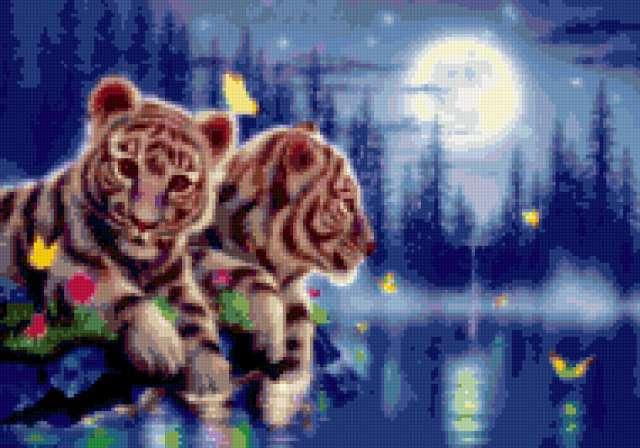 К схеме вышивки «Тигрята» нет