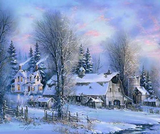 Заснеженная деревня, оригинал