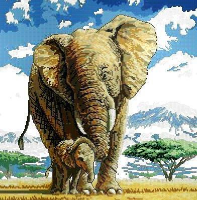 слонёнок, животные, африка