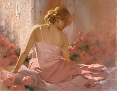 Пробуждение, живопись, женский