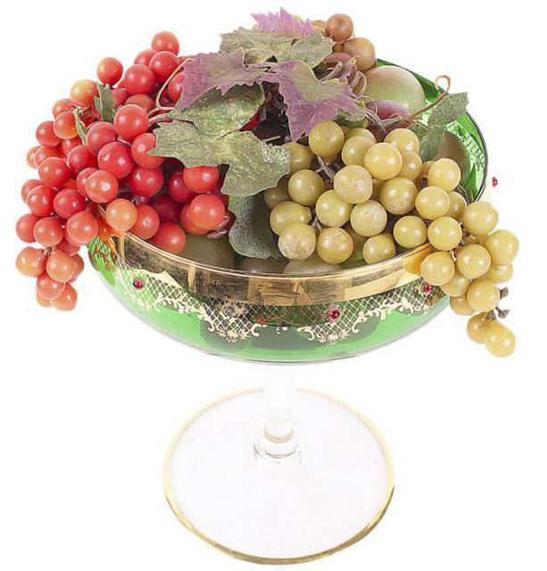 Ваза с виноградом для кухни,
