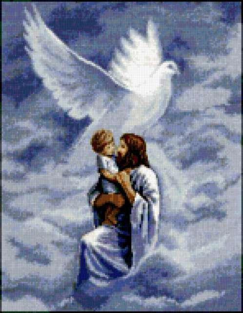 Троица, иисус, голубь, вера,