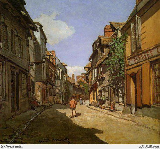 Уличный пейзаж Клод Моне,