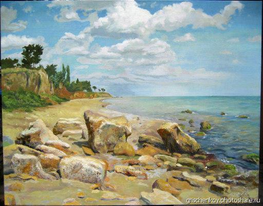 Морской пейзаж, картина