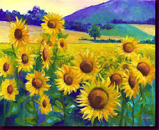 Famous sunflower art