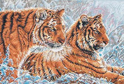 Два тигра, парочка, оригинал