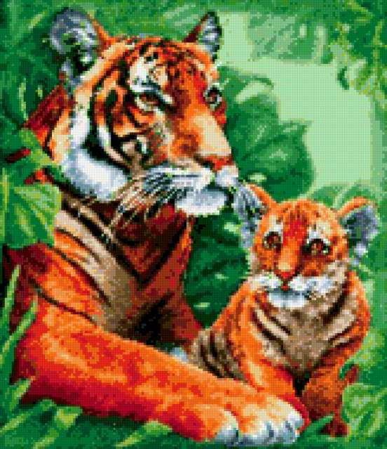 Тигрица и тигрёнок