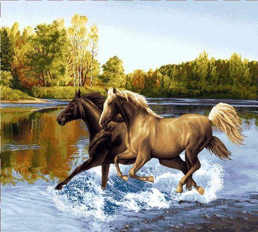 Пара лошадей, оригинал