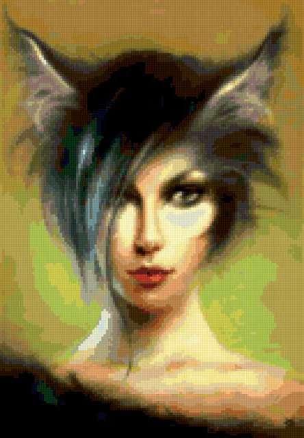 Девушка - кошка, фентези