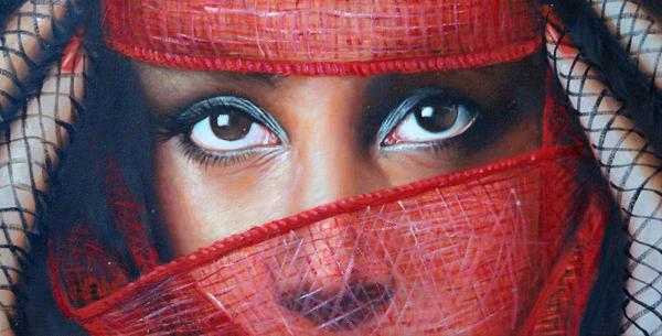 Восточные глаза, живопись
