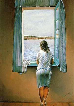 Сальвадор Дали. Девушка у окна