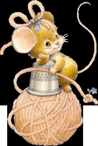 Мышка рукодельница,