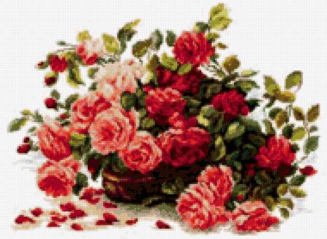 Корзина роз, предпросмотр