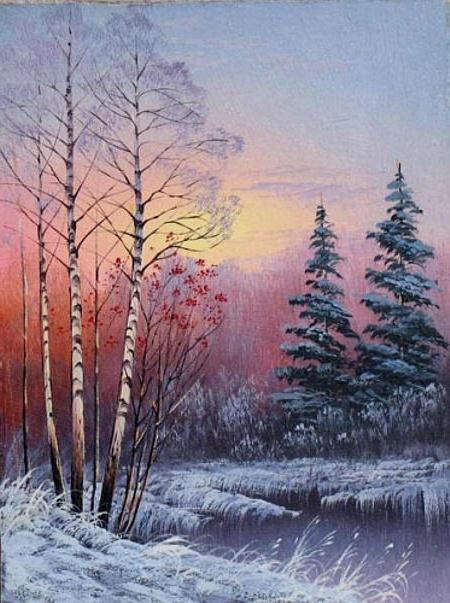 Зимний вечер..., оригинал