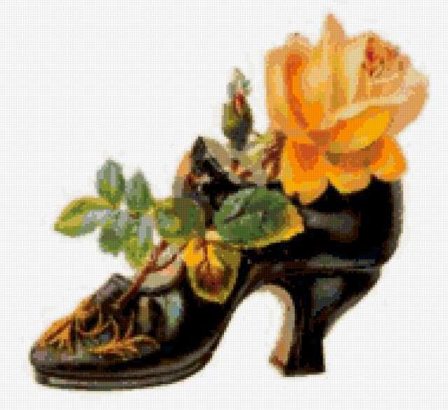 Викторианская туфелька