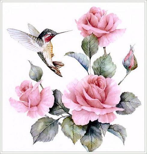 Оригинал схемы вышивки серия птицы и