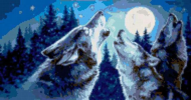Волки и луна, предпросмотр