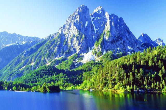 Горы, горы, море, пейзаж,