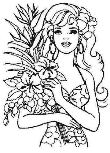 Девушка с цветами, живопись,