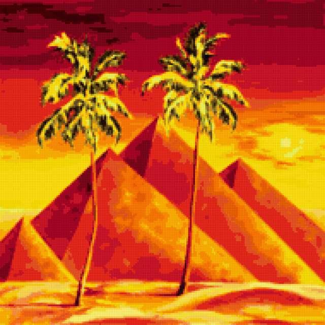пейзаж, пирамиды, красота,