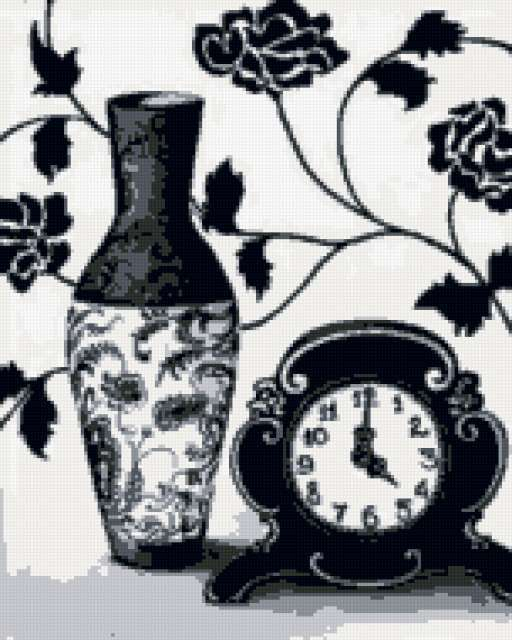 Чёрно-белый натюрморт