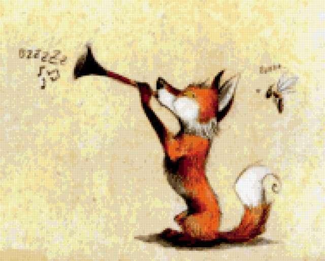 Лисёнок-музыкант, предпросмотр