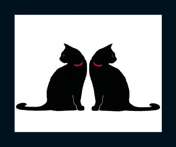 Чёрно-белые коты, оригинал