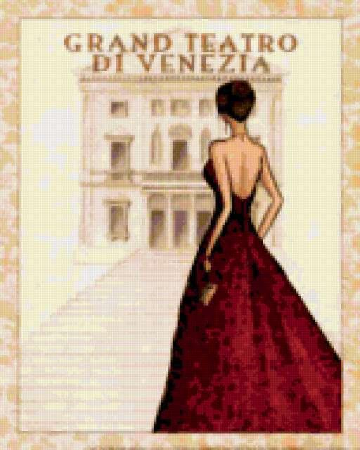 Итальянка схема вышивки