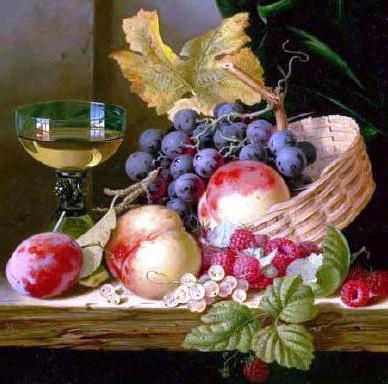 Натюрморт с виноградом ,