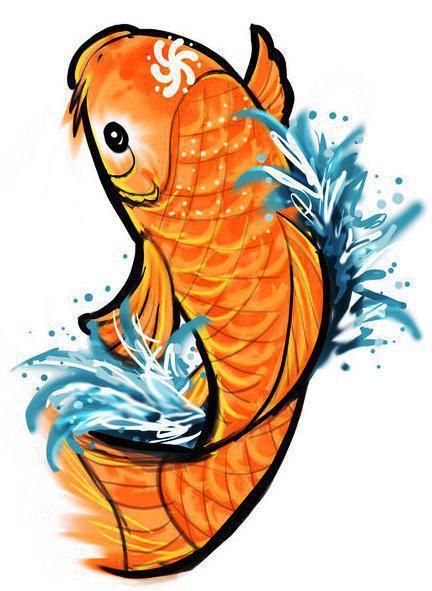 Золотая рыбка или карп кои,