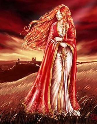 Рыжеволосая леди, фентези