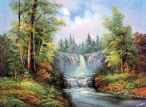 """Серия """"Водопад"""", пейзаж."""