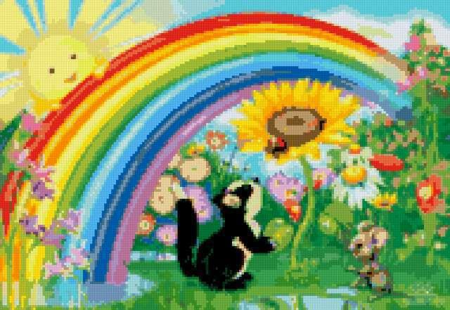 Весёлая радуга в детскую,