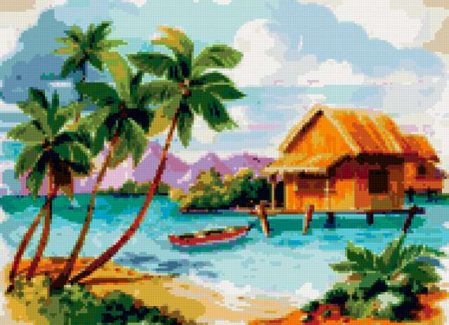 Домик у моря, домик, домики,