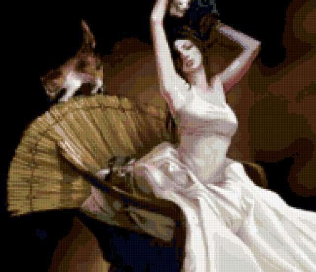 Девушка и котята, девушка,