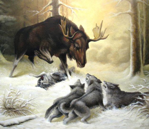 Охота волчьей стаи, оригинал