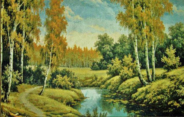 Осенний пейзаж, картина
