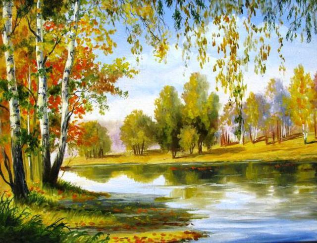 Осенний пейзаж, оригинал