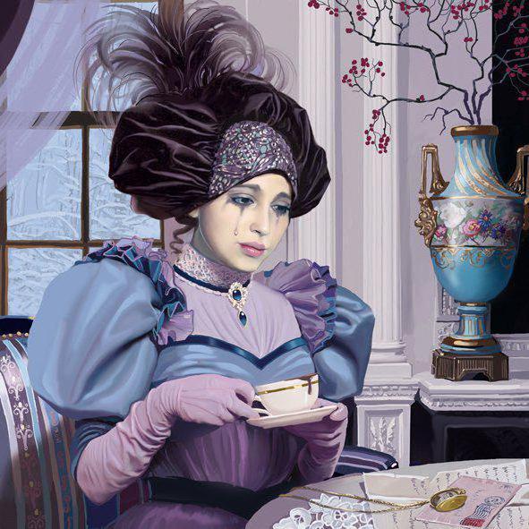 Девушка и чашка чая, фентези,