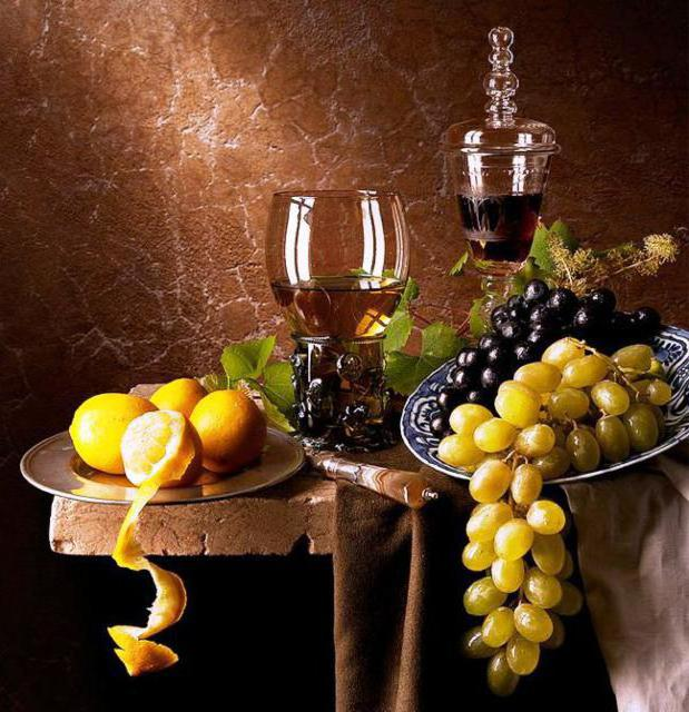 Натюрморт с виноградом на