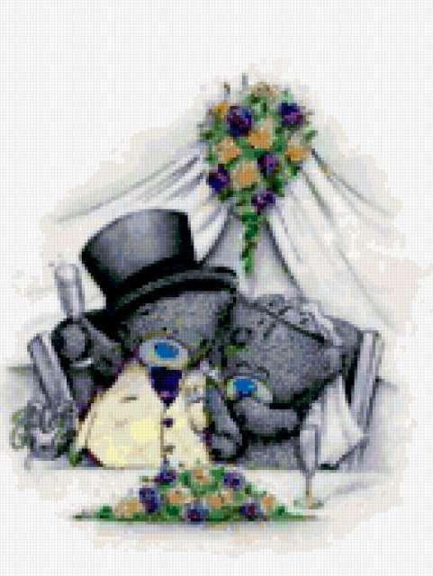 Мишки тедди - свадьба