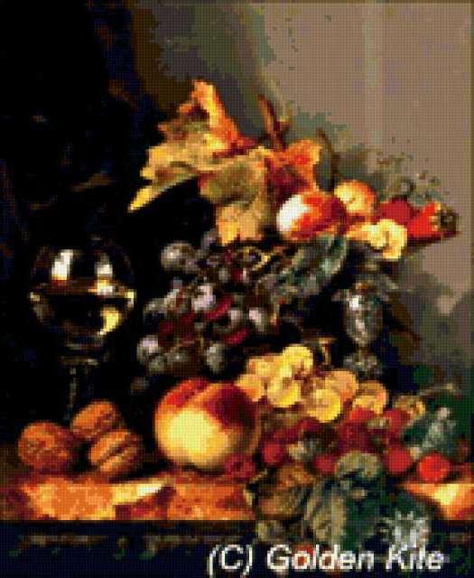 GOLDEN KITE, натюрморт, фрукты